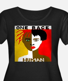 OneRaceHairgreeneyes Plus Size T-Shirt