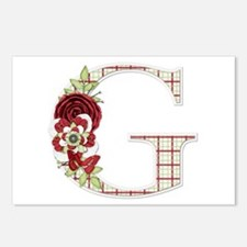Monogram Letter G Postcards (Package of 8)