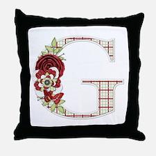 Monogram Letter G Throw Pillow