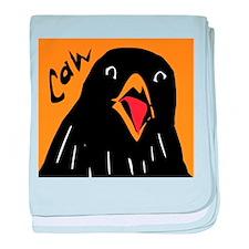 Crow Alert baby blanket
