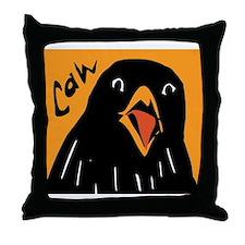 Crow Alert Throw Pillow