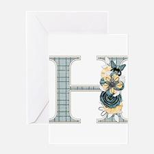 Monogram Letter H Greeting Card