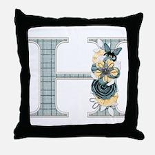 Monogram Letter H Throw Pillow