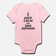 Keep Calm Sing Soprano Infant Bodysuit