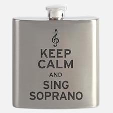 Keep Calm Sing Soprano Flask