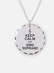 Keep Calm Sing Soprano Necklace