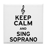 Keep calm soprano Drink Coasters