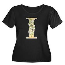 Monogram Letter I Plus Size T-Shirt