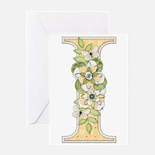 Monogram Letter I Greeting Card