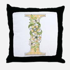 Monogram Letter I Throw Pillow