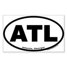 "Atlanta, Georgia ""ATL"" Oval Decal"