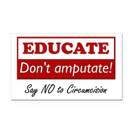 Educate Rectangle Car Magnet