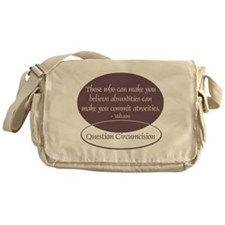 Voltaire Quote Messenger Bag