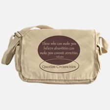 Voltaire Quote Messenger Bag