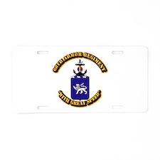 COA - 68th Armor Regiment Aluminum License Plate