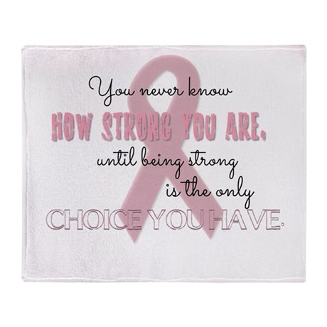 How Strong You Are Throw Blanket