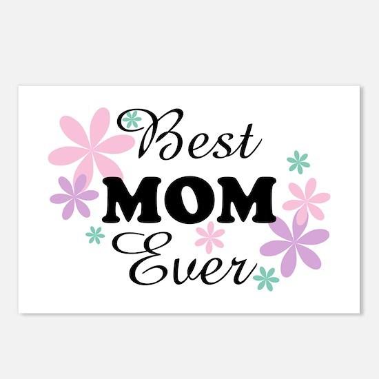 Best Mom Ever fl 1.3 Postcards (Package of 8)