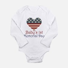Baby's 1st Memorial Day Long Sleeve Infant Bodysui