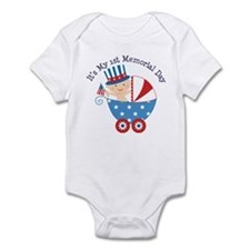 1st Memorial Day Infant Bodysuit