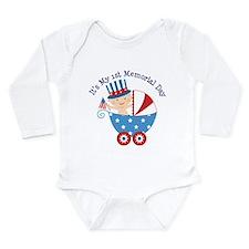 1st Memorial Day Long Sleeve Infant Bodysuit