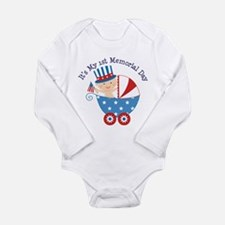 1st Memorial Day Long Sleeve Infant Bodysuit