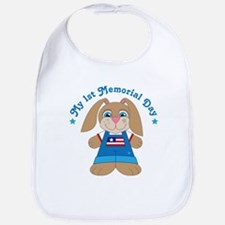 1st Memorial Day Bunny Bib