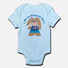 1st Memorial Day Bunny Infant Bodysuit