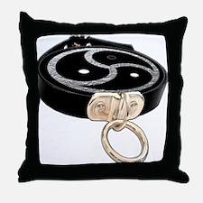 BDSM EMBLEM with Leather Collar Throw Pillow