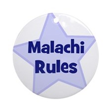 Malachi Rules Ornament (Round)