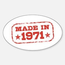 Made In 1971 Decal