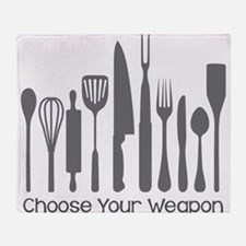Choose Your Weapon Throw Blanket