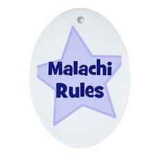 Malachi Rules Oval Ornament