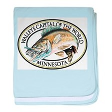 Walleye Capital of the World baby blanket