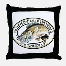 Walleye Capital of the World Throw Pillow