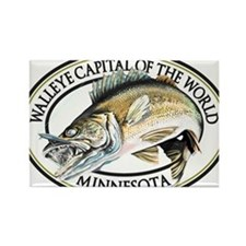 Walleye Capital of the World Rectangle Magnet