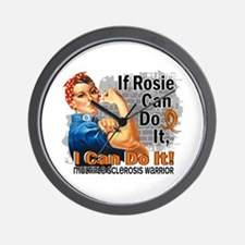 If Rosie Can Do It MS Wall Clock