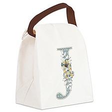 Monogram Letter J Canvas Lunch Bag