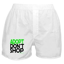 ADOPT DONT SHOP - green Boxer Shorts