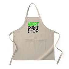 ADOPT DONT SHOP - green Apron
