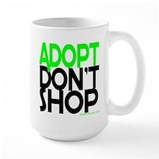 ADOPT DONT SHOP - green Mug