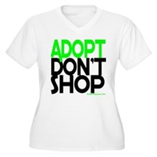 ADOPT DONT SHOP - green Plus Size T-Shirt