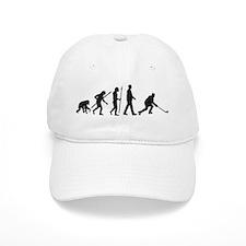evolution of man hockey player Baseball Cap