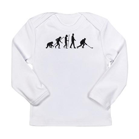 evolution of man hockey player Long Sleeve T-Shirt