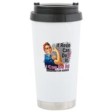If Rosie Can Do It Breast Cancer Travel Mug