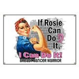 Fights like a girl breast cancer Banners