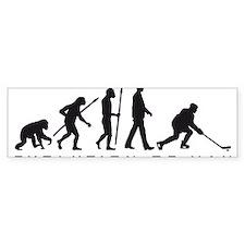 evolution of man hockey player Bumper Bumper Sticker