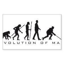 evolution of man hockey player Decal