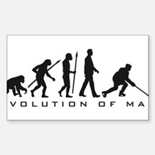 evolution of man hockey player Decal