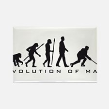 evolution of man hockey player Rectangle Magnet