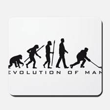 evolution of man hockey player Mousepad